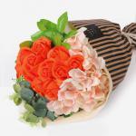 사랑해 오렌지 로즈 비누꽃다발 (1set)