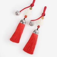방울 장식 적색 전통 매듭 노리개