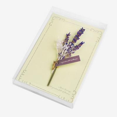 라벤더 드라이플라워 카드