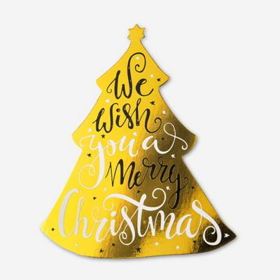 (금박) 캐롤 크리스마스 트리 카드 (1개)