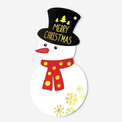 (금박) 메리크리스마스 눈사람 카드 (1개)