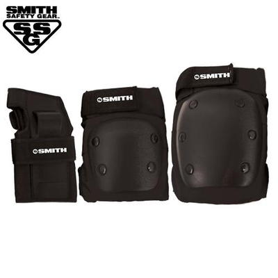 [SMITH] ADULT 3-PACK SAFETY GEAR SET (Black)