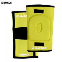 [SMITH] SCABS KNEE GASKET HORSESHOE PADS (Yellow)