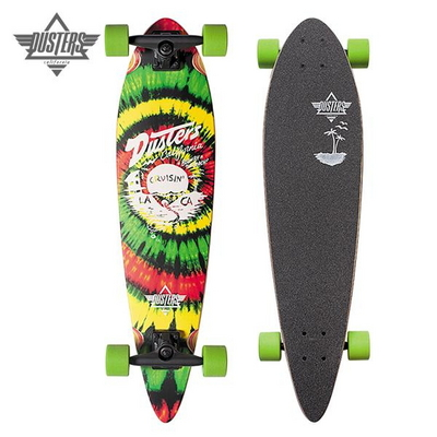[DUSTERS] 34 CRUISIN RASTA SHORT PINTAIL LONGBOARD