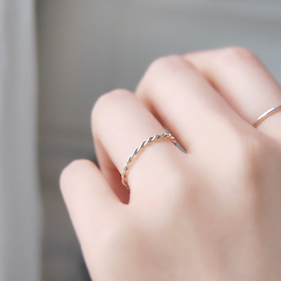 The Course of Love- Silver Wave Ring (꼬임링)