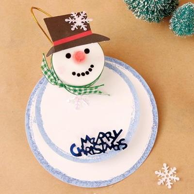[크리스마스]스노우맨 회전 카드 (4인용) 만들기