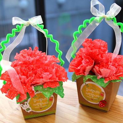 카네이션꽃바구니만들기(4인용)