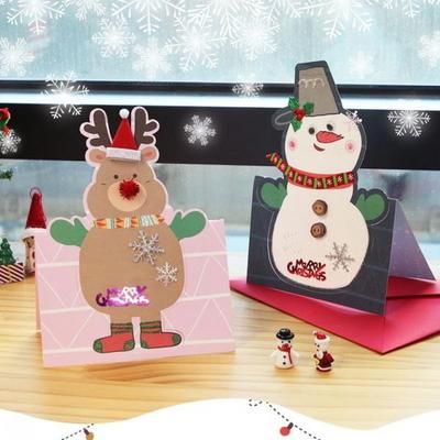 스노돌프빅카드만들기(4인용)/DIY크리스마스카드재료