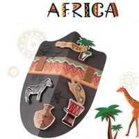 아프리카방패만들기(4개)/세계여러나라만들기미술재료