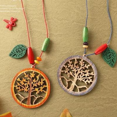단풍나무가있는목걸이만들기(4개)/가을만들기/목공