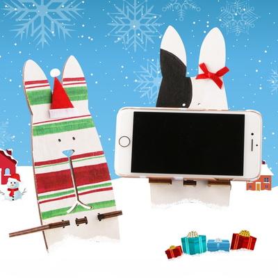 성탄토끼거치대만들기(4개)겨울만들기/스마트폰핸드폰
