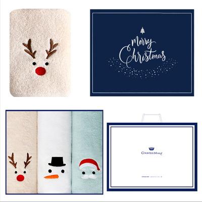 루돌프+눈사람+산타 3매선물세트(쇼핑백) 크리스마스