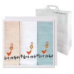옥행운자수 3매 선물세트+쇼핑백