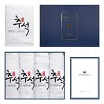 행복한추석 4매 선물세트+쇼핑백