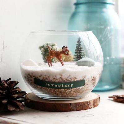 겨울 숲 속 동물 다육테라리움 만들기(어린양)