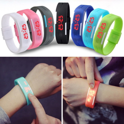(1+1)G3 초경량 디지털 LED시계 스포츠 팔찌시계