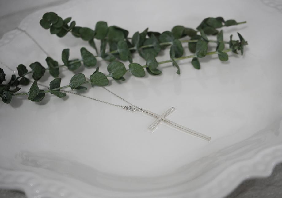 925실버 해머 빅 십자가 롱목걸이 - 안즈, 49,000원, 실버, 펜던트목걸이