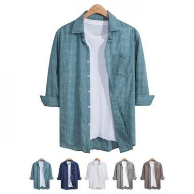7부 베이직 썸머 포켓 셔츠 SHT098