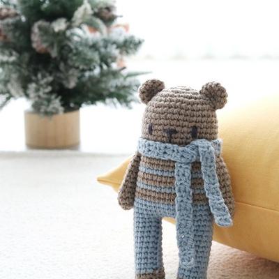 램스울 곰인형 코바늘 애착인형 DIY 키트