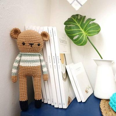손뜨개DIY- 코바늘 곰양과 토끼군 인형 만들기 kit