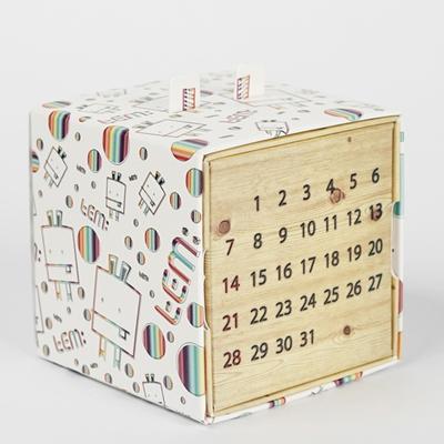 템팩토리 - 레인보우 디자인패턴 만년달력(대)
