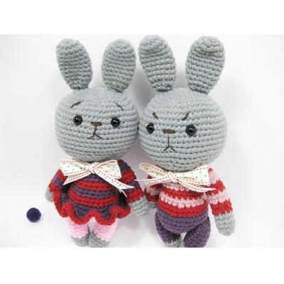 손뜨개 DIY-손뜨개인형-토끼커플