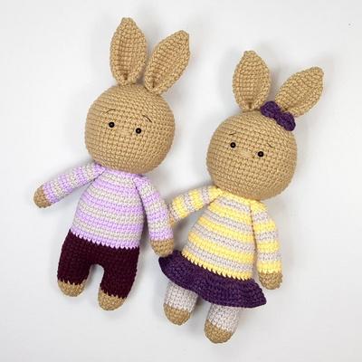 손뜨개 DIY-손뜨개인형-토끼커플2