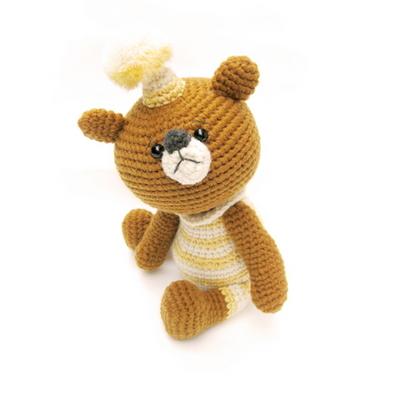 손뜨개 DIY-손뜨개인형-갸우뚱-아기곰