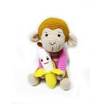 손뜨개 DIY-손뜨개인형-우리는친구-원숭이랑바나나