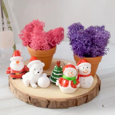 크리스마스 미니피규어 산타,곰돌이,눈사람