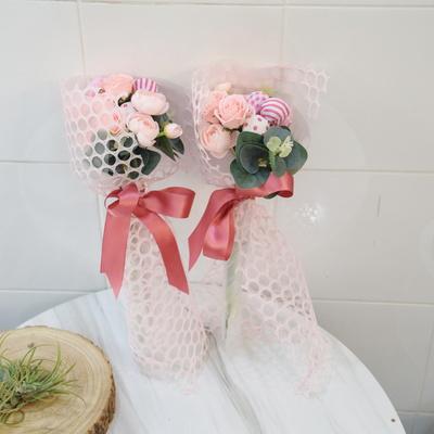 핑크 미니사탕 꽃다발
