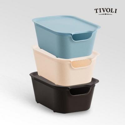 [티볼리] 컬러 수납박스 소 3개세트 (뚜껑포함)