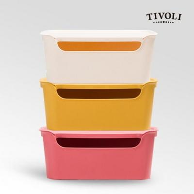 [티볼리] 컬러 수납박스 중 3개세트 (뚜껑포함)
