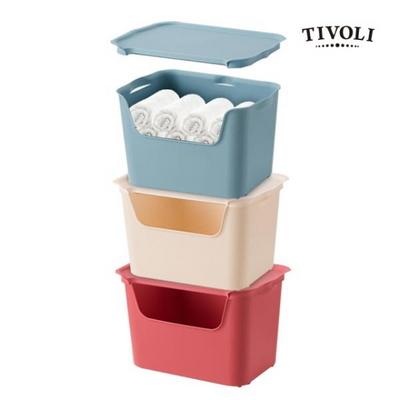 [티볼리] 컬러 수납박스 대 3개세트 (뚜껑포함)