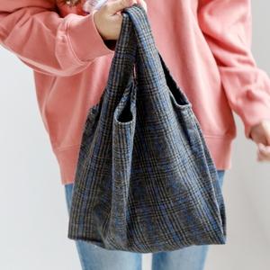 W15-히튼체크 캔버스백 - 여성가방 숄더백 데일리백