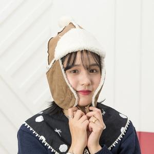 H-6 방울 귀달이 모자 - 방한모자 털모자 귀도리