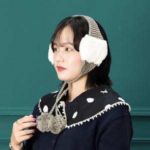 H-10 퐁퐁귀도리  - 방한모자 털모자 귀도리 귀마개