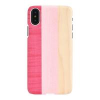 아이폰X 우드케이스 - 핑크파이