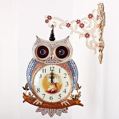 (kmk008)부엉이 양면시계 G