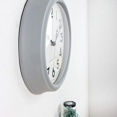 (kmj014)둠 그레이 저소음벽시계 (36cm)