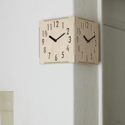 자작나무 코너 더블벽시계 (ktk085)