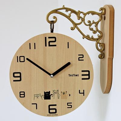 (kthx0445)라이트양면시계(고양이)