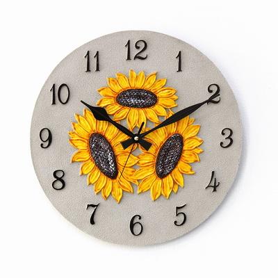 (kkkd019)저소음 400 해바라기 시계(그레이)