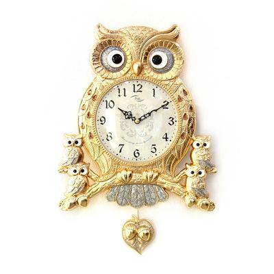 (kspz355)저소음 아콘부엉이 시계 (금)