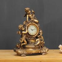 (kkjj159)황금 탁상 시계 (빈티지)