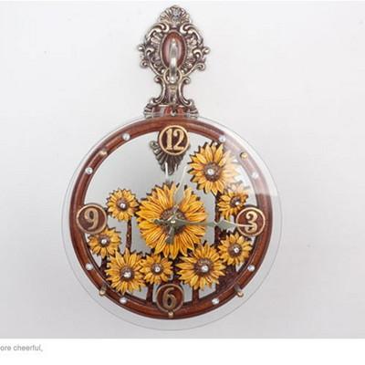 해바라기 양면시계 (대)