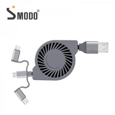 [SMODO-212]고속충전 3in1 플랫 릴 멀티케이블 2.0A