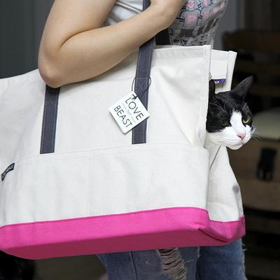 캔버스 토트백-고양이 이동가방