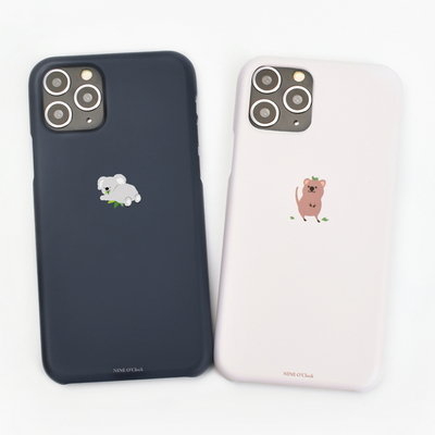 나인어클락 미니동물 하드 슬림핏 케이스 - 아이폰11pro
