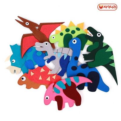 펠트자석 (공룡8p)-보관함(랜덤) -자석놀이
